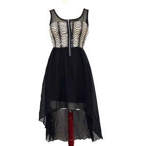 January 7 Prom Dress Size Medium Black Tan